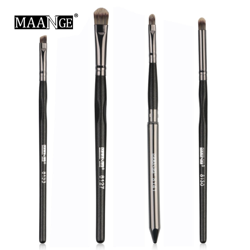 MAANGE 4Pcs Good Quality Eyes Brushes Kit Eye shadow Eyebrow Lip Make up Brush Powder Cosmetic