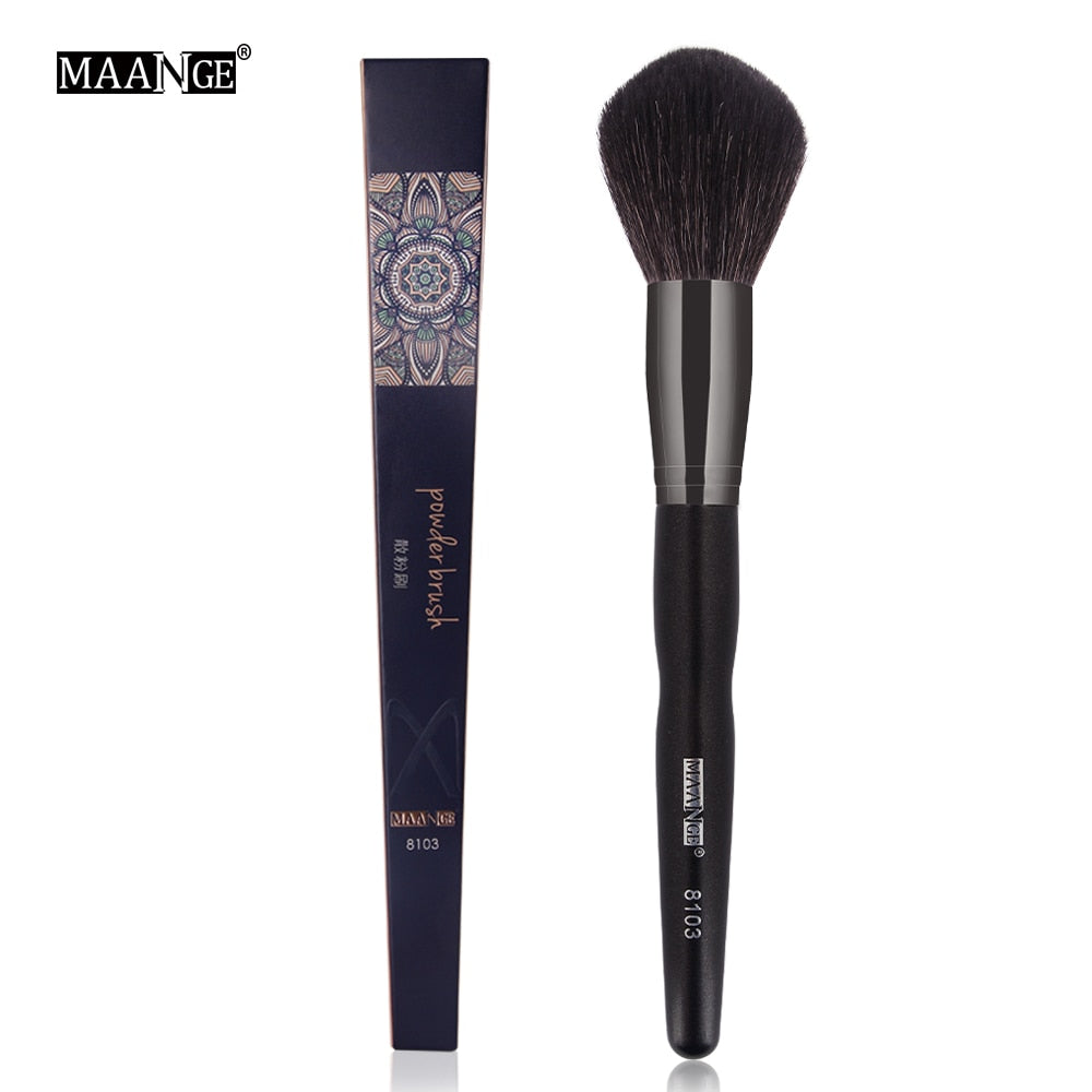 MAANGE Professional 1pcs Natural Goat Hair Powder Makeup Brushes High Quality Soft Foundation