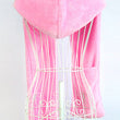 MAKE Hot Girl Women Cute Warm Wool Blend Hat 3 in 1 Function Hat / Scarf / Gloves Pink