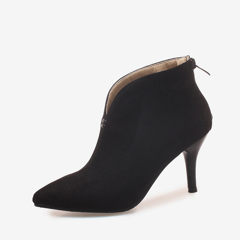5f3e7abf23 MCCKLE Autumn Plus Size Ankle Boots Women Sexy Thin Heel Shoes ...