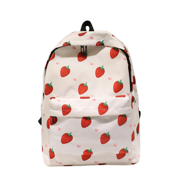 MIWIND 2018 New Fashion Student Youth Schoolbag Printing Fruit Flamingo Leisure Backpack XM095
