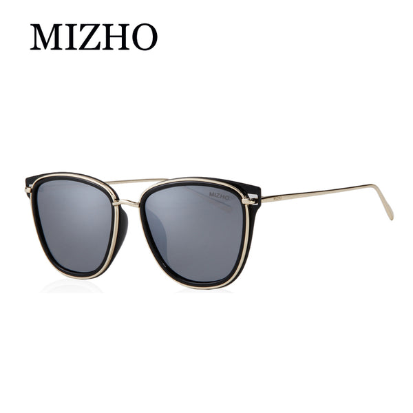 MIZHO Retro Brand Women Colored Sunglasses Polarized Mirror Vintage Eyewear Accessories Balck Men's Sun Glasses Clear For Mujer