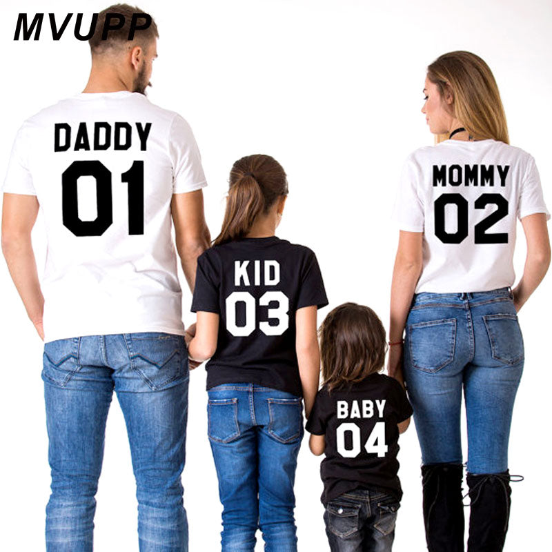 25f3611bc2 MVUPP family look Matching outfits t shirt daddy mommy kids baby mothe –  Beal | Daily Deals For Moms