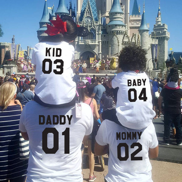 MVUPP family look Matching outfits t shirt daddy mommy kids baby mother and daughter father son clothes family clothing tops tee