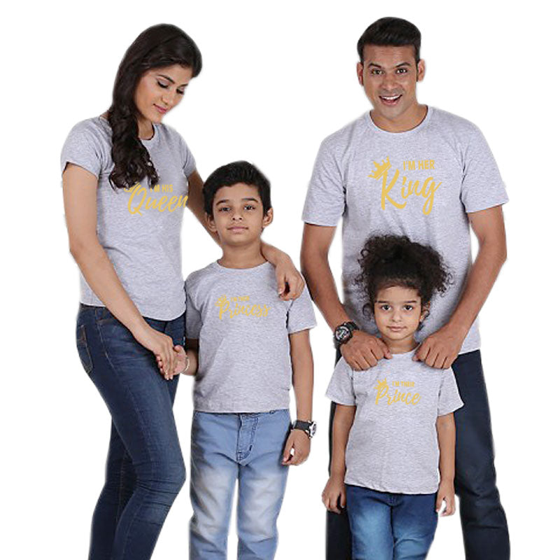 cd30787921 MVUPP family look matching clothes king queen t shirt father mother ...