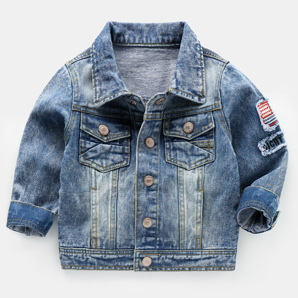 Maggie's Walker Spring and autumn Boys denim jacket Children jeans coat Long sleeve causal outerwear for kids Baby boys clothes