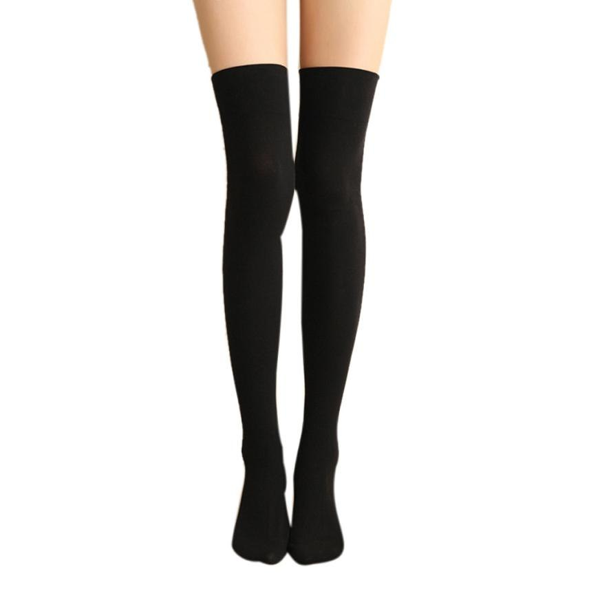 376638c41508c Meias femininas de algodao Women Sexy Thigh High Over The Knee Socks Long  Cotton High school women's sockings Calcetines mujer – Beal | Daily  Deals For ...