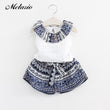 Melario 2018 Summer Girls Clothing Sets Cotton Vest Two-piece Sleeveless Children Sets Casual