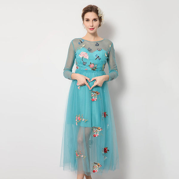 Melario Maternity Dress 2018 Maternity Dress Butterfly Embroidery Summer Women Clothes Pregnant Dress Maternity Photography Prop
