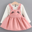Menoea Girls Clothing Sets 2018 New Style Spring Newborn Cute Rabbit Ears Printing Princess Dress Baby Girls Long-Sleeve Dresses