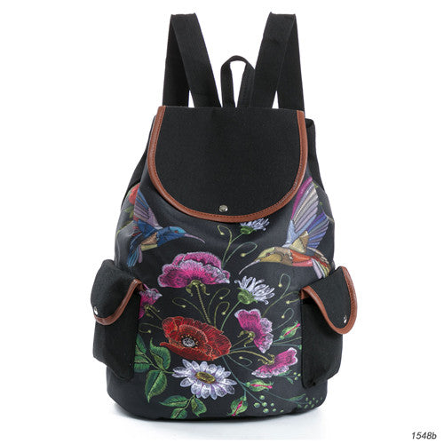f366696c5 Miyahouse Female Fashion Dragonfly Print Canvas Backpacks Women Drawstring  Design Travel Rucksack Girls Black Shoulder Schoolbag – Beal | Daily Deals  For ...