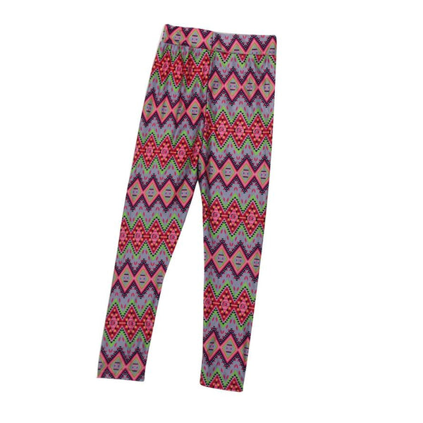 Mom and Daughter Pants Matching Clothes 2017 Geometric Skinny Tight Leggings Trousers Family Clothes Pants D50