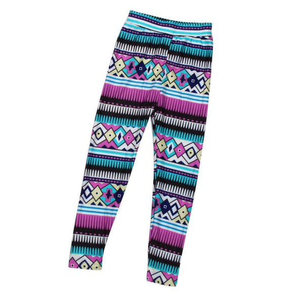 Mom and Daughter Pants Matching Clothes 2017 Tribal Geometric Tight Leggings Trousers Family Clothes Pants D50