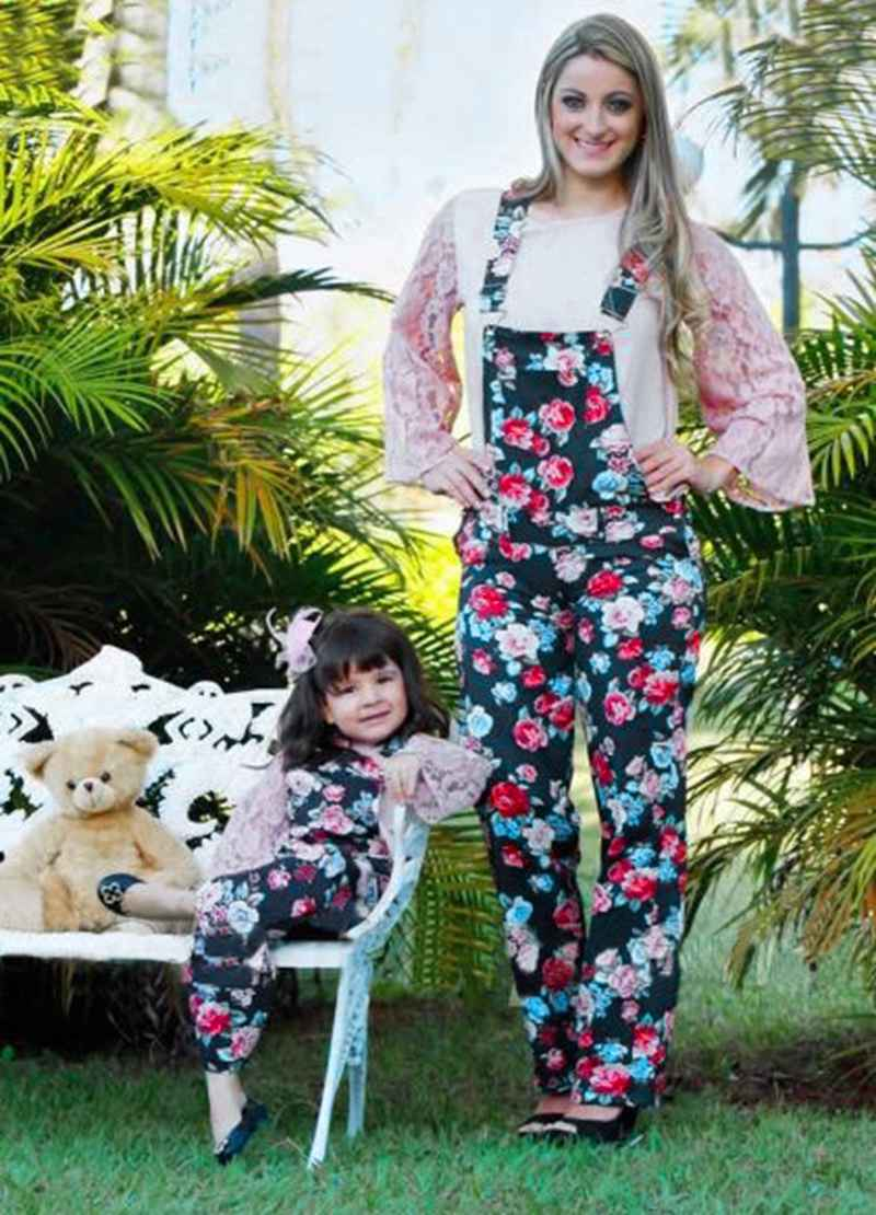 684ce8fd11 Mother And Daughter Blue Flowers Jumpsuit Baby Girls Floral Jumpsuit K –  Beal | Daily Deals For Moms