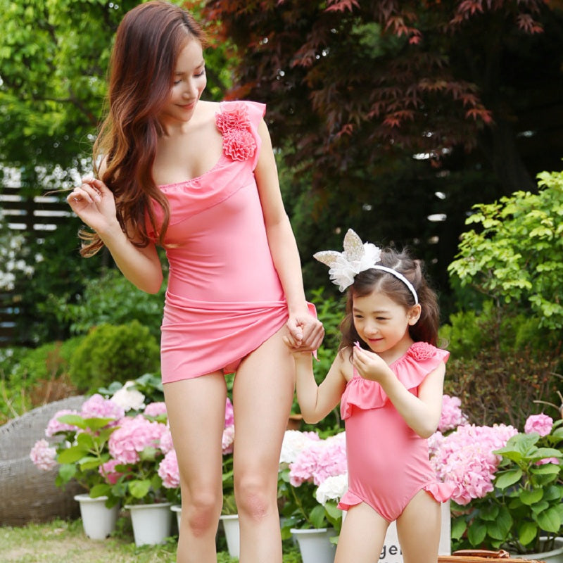 Mother Daughter Dresses Family Matching Swimsuit Mother -3328