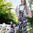 Mother and Daughter romper Spring and Summer parentage printing belt trousers Europe and America style Family Clothing Outfits