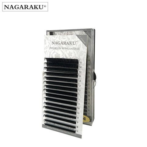 NAGARAKU 16rows,7~15mm mix,High quality eyelash extension mink,individual eyelash extension,natural