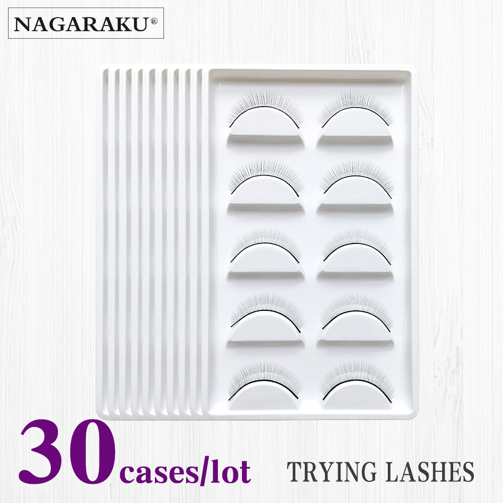 Nagaraku 30trays Set False Eyelashes Handmade Training Lashes For Eyelash Extension Beginners Extensions Beauty Salon Student Practice Beal Daily Deals Moms