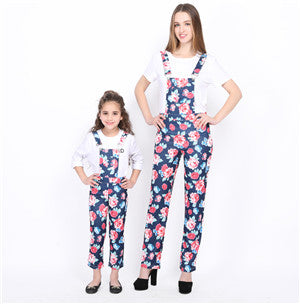 NASHAKAITE Print Romper Jumpsuit 2018 New Fashion Mom and daughter matching clothes Mother daughter jumpsuits mamma e figlia