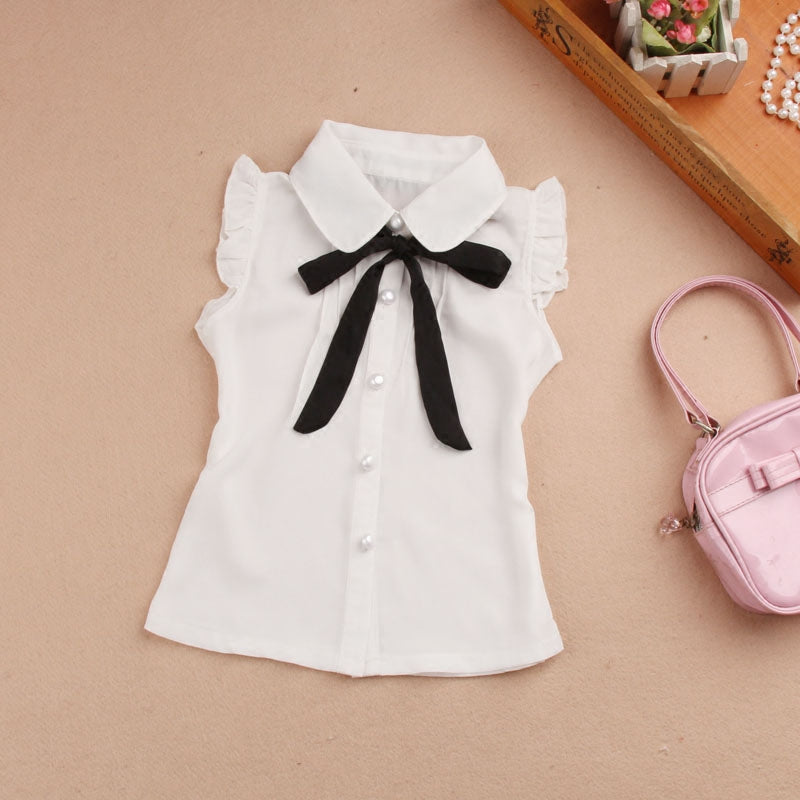 New 2018 Summer Kids Girls Clothes Children Clothing Fashion  Single-breasted Chiffon Vest Cut Bow School Girl Vest Age 2-16Y – Beal  d7a8e8679ff0