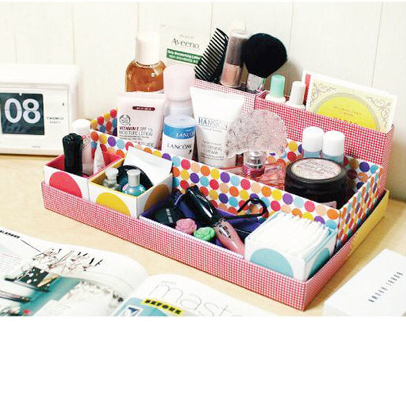 New  Arrival Desk Cosmetic Storage Box Container Bag Stuff Organizer Box In Box DIY Dresser