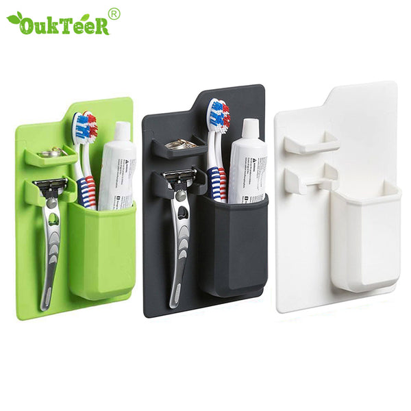 New Arrivals Silicone Bathroom Organizer Mighty Toothbrush Holder Silicone Toothbrush Holder for