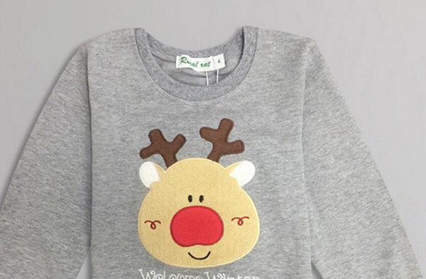 New Christmas Family Clothing 2018 Christmas Deer Kid Shirts Mommy and Me Clothes Mother Daughter