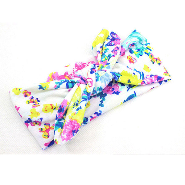 New Colorful Boho Newborn Toddler Headband Ribbon Elastic Baby Headdress Kids Hair Band Girl Bow