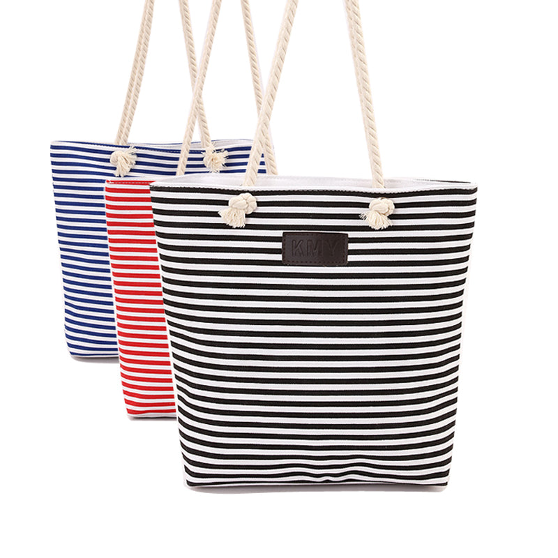 New Cotton Canvas Summer Beach Bag Ladies Shoulder Bags Women Tote Bags  Large Female Handbags Casual Striped-15 – Beal  cd07215afa71e
