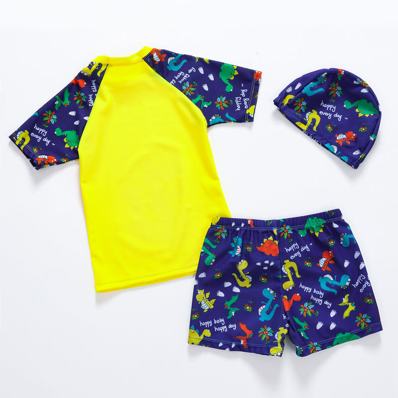 f0ef310abb New Cute Boys Swimsuit 3 Pieces Suits Dinosaur Print with Swim Cap Kids  Swimwear Bathing Suit Beach Wear Child Swimwear Suit – Beal | Daily Deals  For Moms
