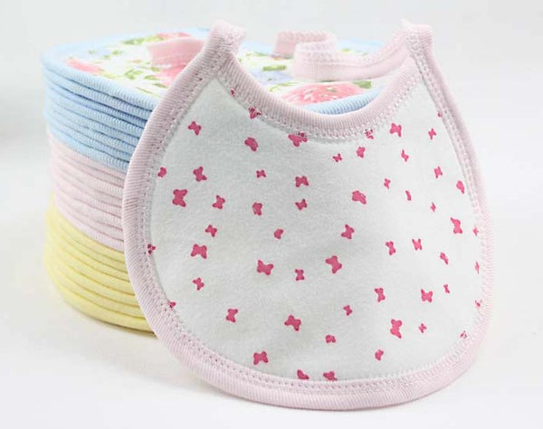 New Design Baby Kids Bibs By Boys And Girls Cartoons animals and flowers Stye 100% Cotton Child-essential 20% off