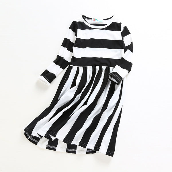 New Family Dress Mother Daughter Spring Fashion Striped Family Look Matching Clothes Mom And Daughter Dress Family Clothing