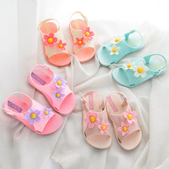 1feeec488b494 New Fashion 2018 Children Sandals Girls Shoes Summer Beach Lovely Flowers  Baby Girl Sandals Comfortable Kids Shoes for 1-5years