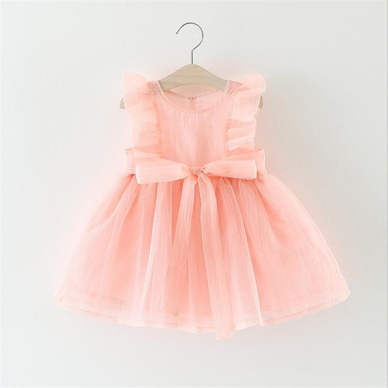 757214d051490 New Fashion Dresses Formal Newborn Wedding Dress Baby Girl Bow Pattern For  Toddler 1 Years Birthday Party Baptism Dress Clothes