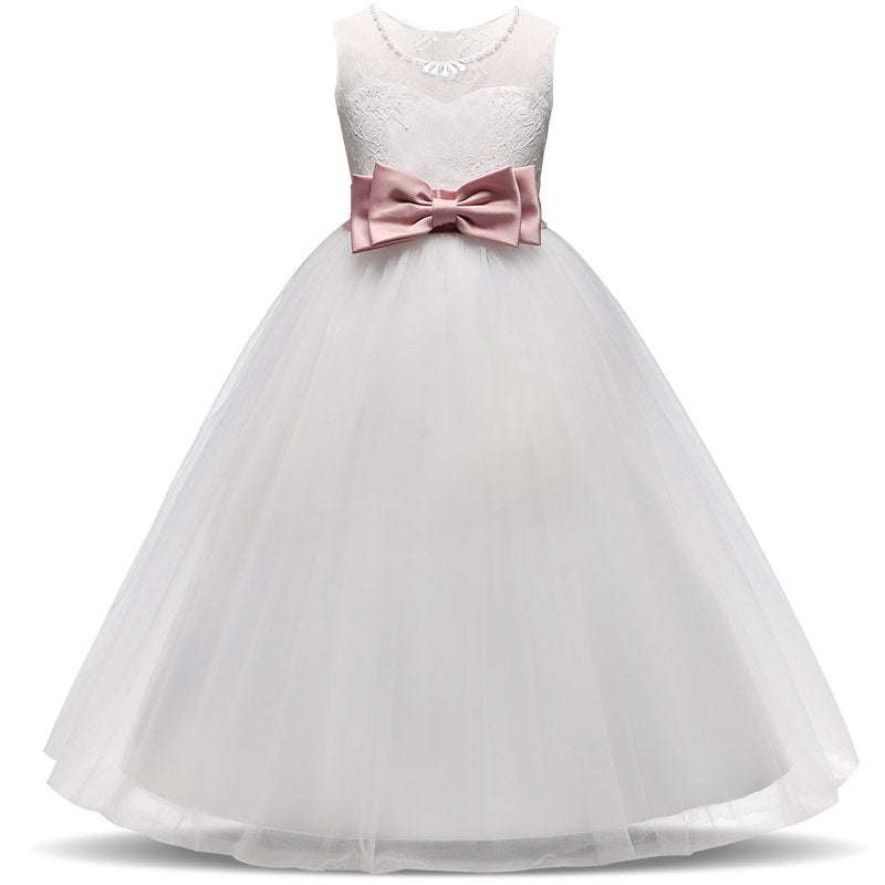 384ffb0586917 New Flower Girl Dress Lace Boutique Wedding Prom Ball Gowns Girls First  Communion Dresses Kids