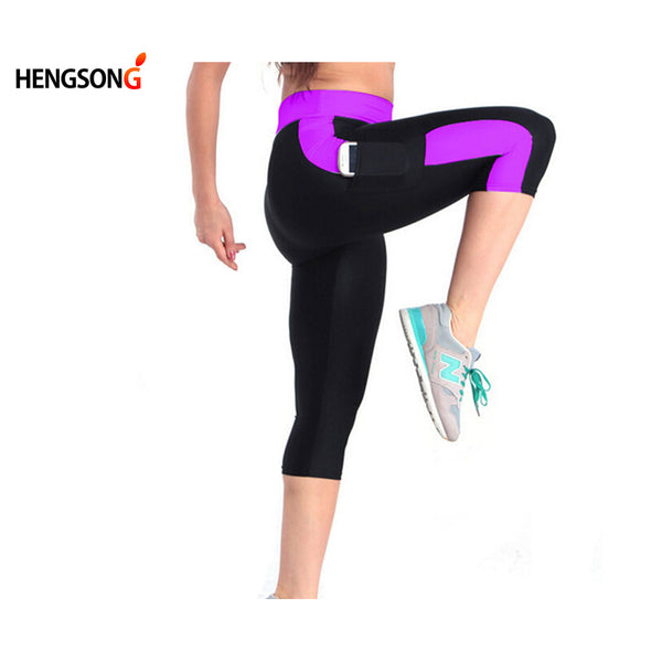New High Waist Women Pants Elastic Stretched Fitness Plus Size S-XL Fitness Female Sport Pants Sportswear Running Pants