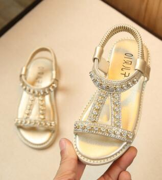 Brand New Toddler Girls Rhinestones Sandals Size 5-10