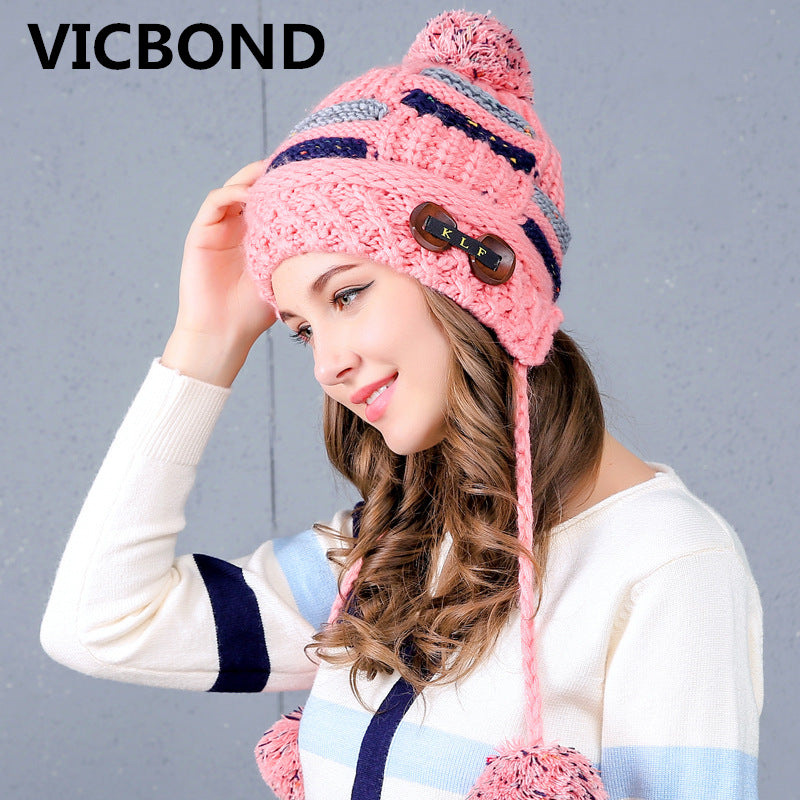 25985b34fe5 New autumn winter cashmere wool hair ball thickening woman cap hat bea –  Beal