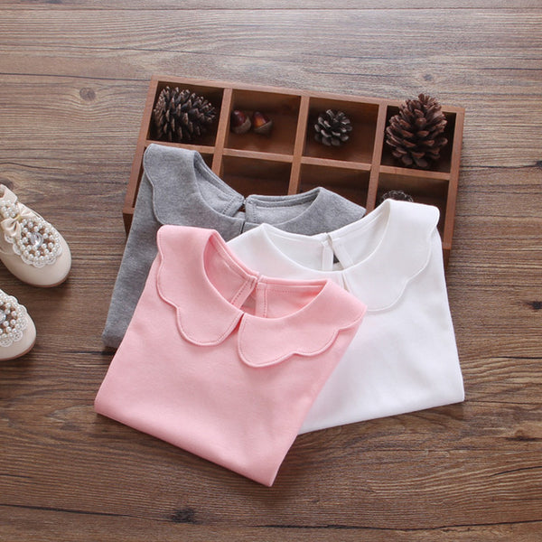 Newborn Baby Cotton Shirts Children Bottoming Shirt Kids Clothes Fashion Infant Long Sleeve Basic