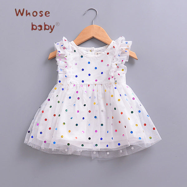 0dd334dc1 Newborn Baby Dress Polka Dots Ruffles Sleeve Dresses for Girls Vestidos Infant  Clothing 2018 Summer Party