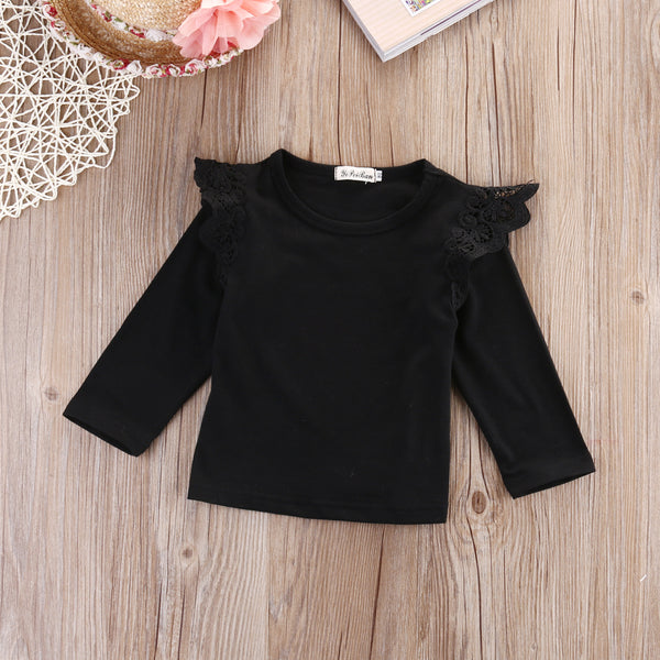 Newborn Baby Girls Toddler Kids Clothes Long Sleeve T-shirts Tops Outfit Blouse