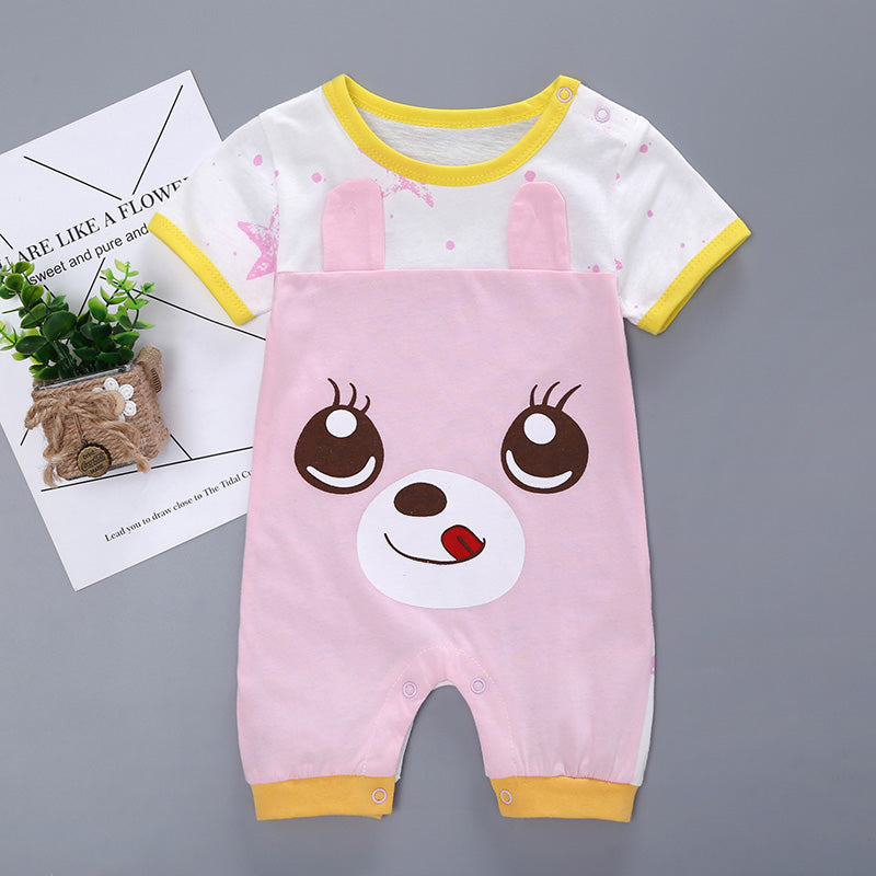 af3f7f6a0c43 Newborn Baby Jumpsuit Rompers Cartoon Animal Kids Summer Clothing bebe –  Beal