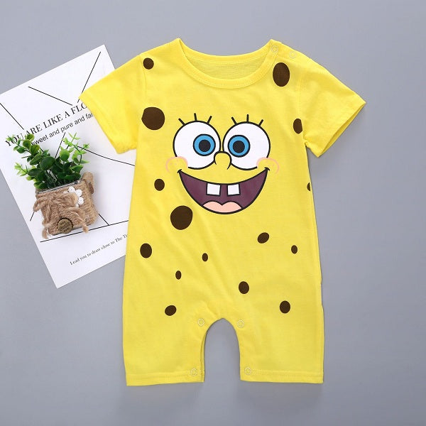 a6a322ad4505 Newborn Baby Jumpsuit Rompers Cartoon Animal Kids Summer Clothing ...