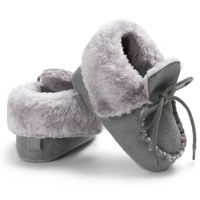 f12afd811beca Newborn Booties Baby Shoes Kids Cotton Winter Warm First Walker Babe Soft  Sole Snow Shoes Baby