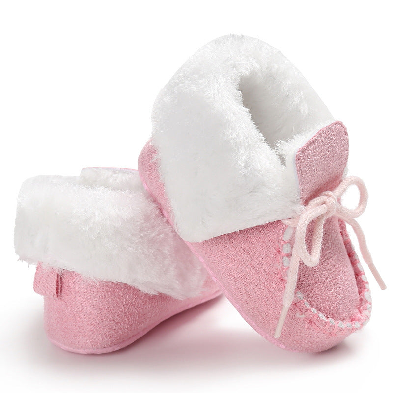 68568b432b813 Newborn Booties Baby Shoes Kids Cotton Winter Warm First Walker Babe Soft  Sole Snow Shoes Baby Boy Booty Girls Fur Winter Booty – Beal