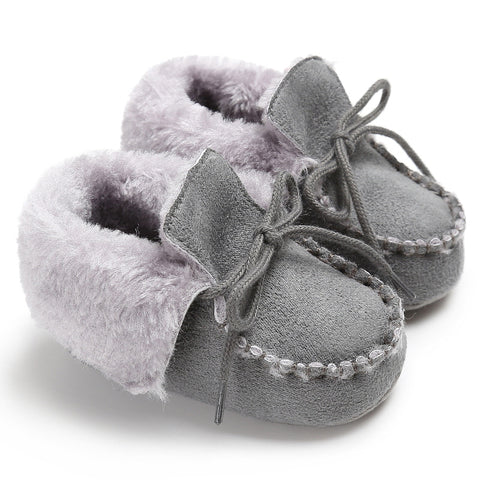 Newborn Booties Baby Shoes Kids Cotton Winter Warm First Walker Babe Soft Sole Snow Shoes Baby