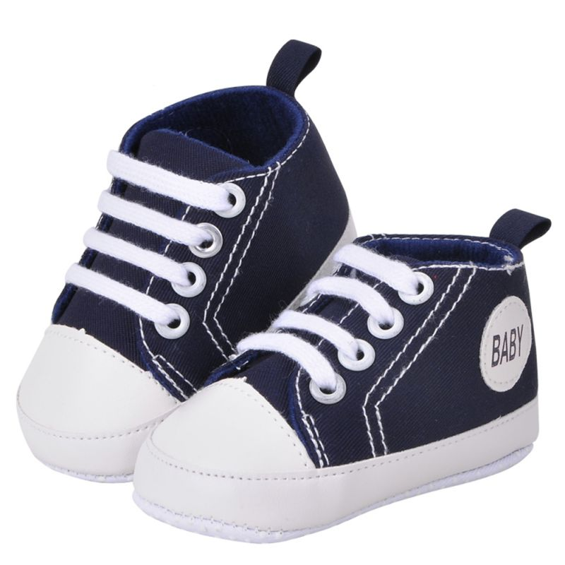 35896c1fd056d Newborn Canvas Classic Sports Sneakers Baby Boys Girls First Walkers ...