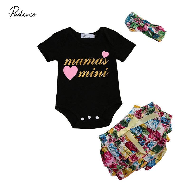 e295dc39bd8 Newborn Infant Baby Girls Clothes New Style Floral Short Sleeve Romper –  Beal