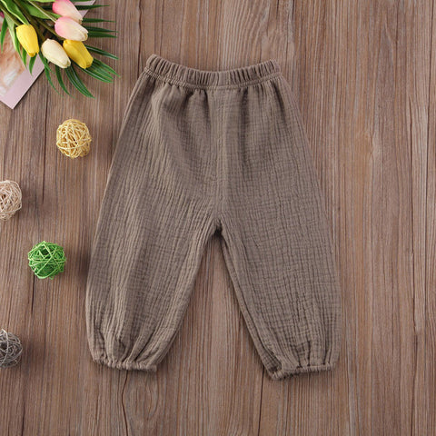 Newborn Toddler Baby Kids Girl's Boy's Cotton Wrinkled Bloomers Trousers Legging Pants