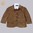 Nimble costume enfant garcon mariage boys blaz Corduroy England Style Three Pieces Suit Kids
